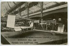 GREAT BRITAIN 1910 Pioneer Air Card: Olympia Aero Exhibition to Eccles