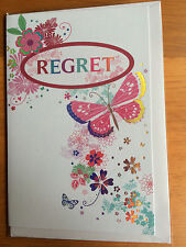 REGRET CARD Party Wedding Dinner Small Can't Attend Decline Invitation BUTTERFLY