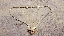 "Necklace 16"" to 18"" Brighton Crystal/Silver Stranded ♡Contempo Heart♡"