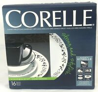 NEW IN BOX 16 PIECE CORELLE GARDEN GETAWAY DINNER BREAD PLATE CEREAL BOWL MUG