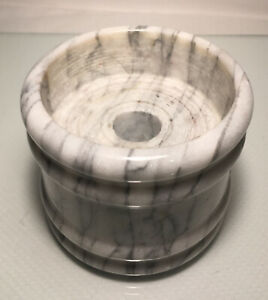 Light Grey  Marble Candle Holder Round Paperweight Taiwan