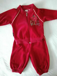 Baby girls trucksuit set outfit velour size 3-6 months NEW