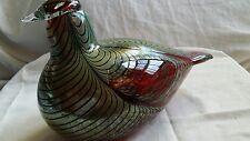 Large Oiva Toikka Art Glass Bird