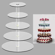 5 niveau gâteau stand mariage fête d'anniversaire acrylique Cupcake Présentoir