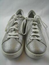 Geox 1007525 Damen Sneaker in silber Leder Gr.37