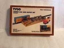 Tyco Horse Car & Depot Set HO Nice #869