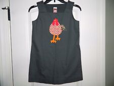 Girl's Boutique Gray Chicken Dress Size 10 by Chocolate Soup-NWOT