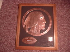 1970's Washington Redskins Copper Acrometal Football Wall Plaque