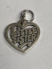 JAMES AVERY Sterling Silver 925 LITTLE SISTER Heart Charm