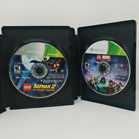 Lego Batman 2 DC Super Heroes Lego Marvel Super Heroes Xbox 360 Tested Disc Only
