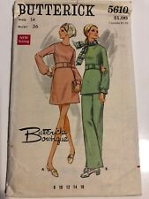 Butterick Boutique 60s Vintage Sewing Pattern Fitted A Line Dress & Pants