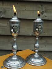 More details for somerset light infantry - sergeant's mess table lighters - british army - 1950s