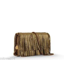 Stella McCartney Gold Fringe Falabella Across Body Chain Clutch Bag BNWT £850