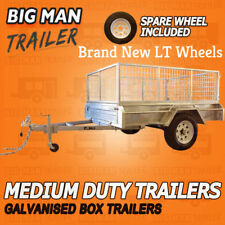 8x5 SINGLE AXLE TRAILER GALVANIZED CAGE HEAVY DUTY WITH SPARE WHEEL 7x5 6x4