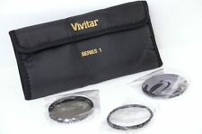 Vivitar Tri-Fold Filter Case/Holder/Wallet + UV, Polarizing and ND8 Filters 62mm