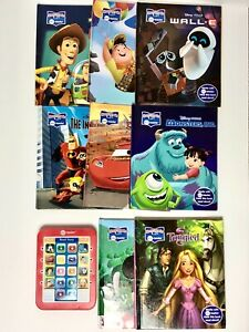 STORY READER ME DISNEY RED SET Electronic READER w/ 8 BOOKS~ WORKED Tested