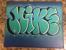 MIKE 8 x 10 spray paint and marker on Canvas signed original