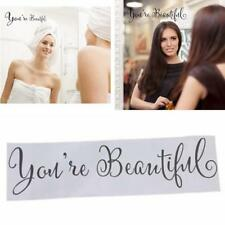 Quote You're Beautiful Art Vinyl Decal Removable Wall Sticker Mural Home Decor G