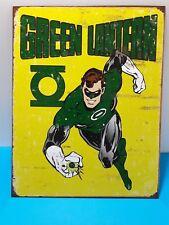 Rustic Green Lantern Retro DC Comics Cover - Metal Tin Sign 40 x 32cm