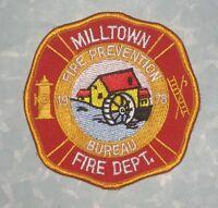 """Milltown Fire Dept Patch - Fire Prevention Bureau - New Jersey - 3 1/2"""" x 3 1/2"""""""
