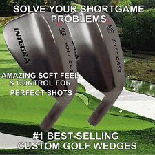 SET OF 2 GUN METAL BLACK CARBON 52 56 60 64 DEGREES LOB GAP APPROACH SAND WEDGE
