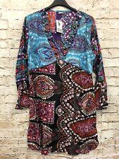Damen Tunika Lagenlook bunt Print Top Shirt Übergröße Gr. 42 44 Steinen Neu