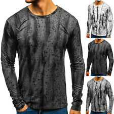 Longsleeve Sweatshirt Langarmshirt Rundhals Classic Sport Herren BOLF 1A1 Motiv