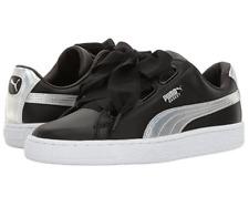 Puma CUORE ESPLOSIVO Da Donna UK 7 EU 40.5 Nero Pelle Scarpe Da Ginnastica Sneakers