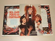 BOY GEORGE CULTURE CLUB  clipping articolo foto photo 1984 AT53
