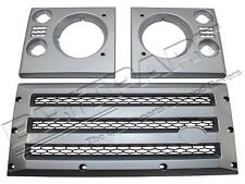 LAND ROVER DEFENDER FRONT XS GRILL KIT IN SILVER WITH BLACK MESH DA1969