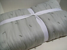 Pottery Barn Gray Cotton Silk Jersey King California King Quilt KING Shams New