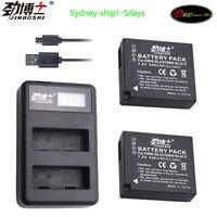DSTE Fast Charging USB Dual battery Charger Compatible for Panasonic DMW-BLE9,DMW-BLE9PP,DMW-BLG10,DMW-BLH7,DMW-BLH7PP,DMW-BLH7E,DMW-BLH7GK,DMW-BTC9,Panasonic Lumix DC-LX100 II,DMC-GF6,DMC-GM1KEB