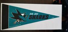 SAN JOSE SHARKS NHL MINI PENNANTS 4 X 9