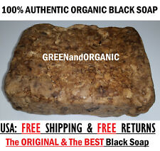 5 Lbs RAW AFRICAN BLACK SOAP Organic From GHANA Pure Premium Quality 5 Pounds