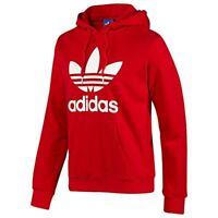 Adidas Originals Trefoil Hoodie Red Medium Hooded Jumper Sweatshirt Top Quality