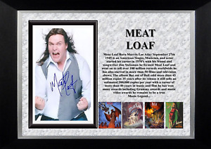 MEAT LOAF MUSIC LEGENDS MOUNTED PRINT