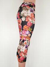 Title Nine Onzie Flow Bright Floral Multi-Color Capri Leggings S M