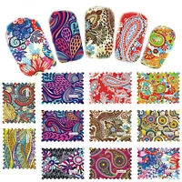 44pcs Bueaty Nail Art Water Transfer Stickers Wraps Foils Decals Tips Manicure//