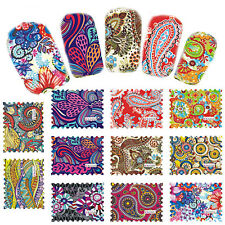 44pcs Hot Sale Nail Art Water Transfer Stickers Wraps Foils Decals Tips Manicure