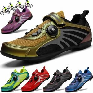 Men Professional Cycling Shoes Buckle Bike Bicycle Road MTB Sneakers Rubber Sole