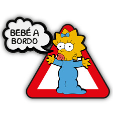 BEBE A BORDO MAGGIE PEGATINA VINYL STICKER DECAL AUFKLEBER COCHE THE SIMPSONS