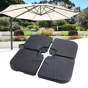 4 Stk. Sonnenschirmständer Schirmgewicht wiederfüllbar 60L Schirmständer
