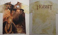 The Hobbit Movie Desolation of Smaug Bilbo Gandalf FrontBack Sublimation T-Shirt