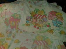 Vintage Strawberry Shortcake Bedding Set Twin flat sheet and pillowcase