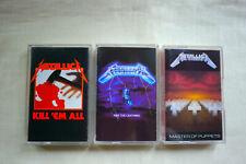 Metallica - Kill 'Em All, Ride The Lightning, Master Of Puppets 3x Cassette Mint