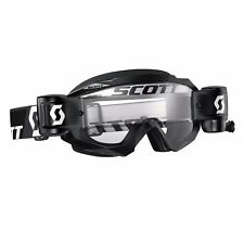 Maschera Scott Hustle Mx Goggles WFS Nero Black Tear Offs Cross Enduro