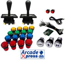 Kit Arcade Industrias Lorenzo joysticks negros 16 botones iluminados LED Bartop
