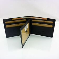 Genuine Leather Men Wallet RFID Protection Anti Theft Full Grain Cowhide 9slots