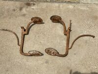 Pair of Antique Stagecoach DOUBLE STEP for Buggy Wagon Old West Carriage