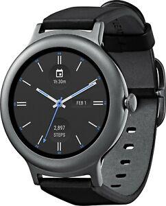 LG Watch Style W270 45.7mm Titanium Stainless Steel Black READ DESCRIPTION
